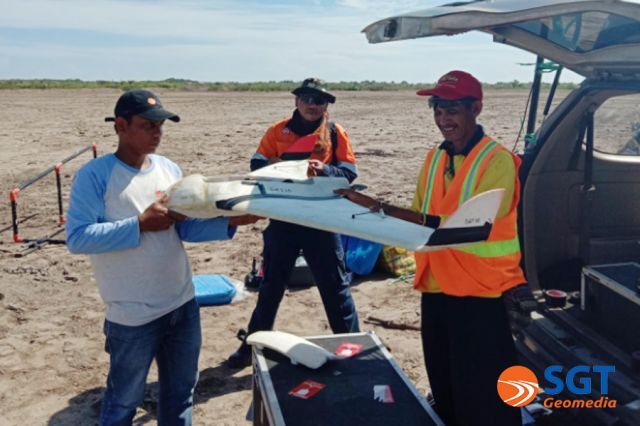 Pemetaan dengan UAV Untuk Lahan Garam Industri
