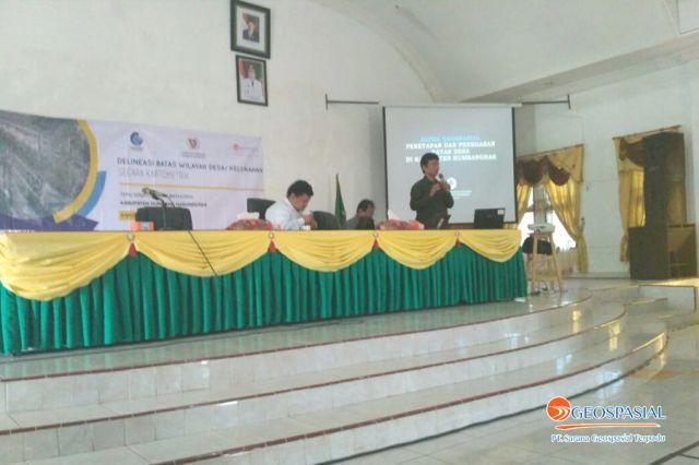 Delineasi Batas Desa di Kabupaten Humbang Hasundutan