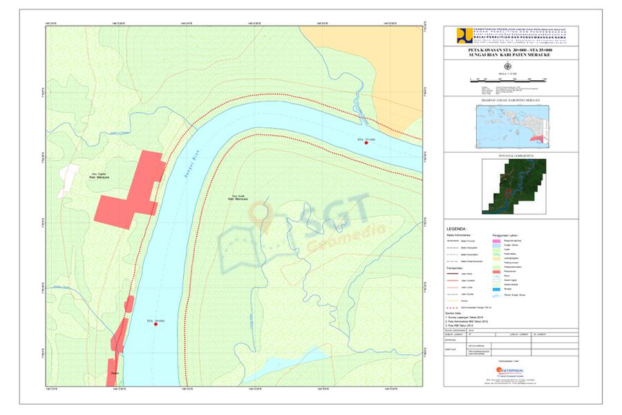 Peta Kawasan Suber Daya Air Sungai Bian - Merauke