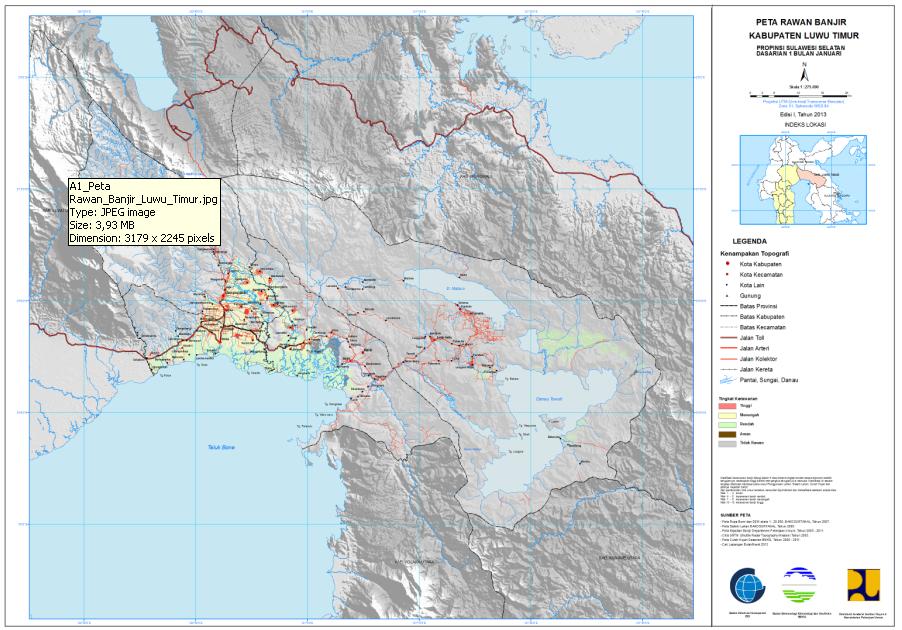 Pemetaan Daerah rawan banjir