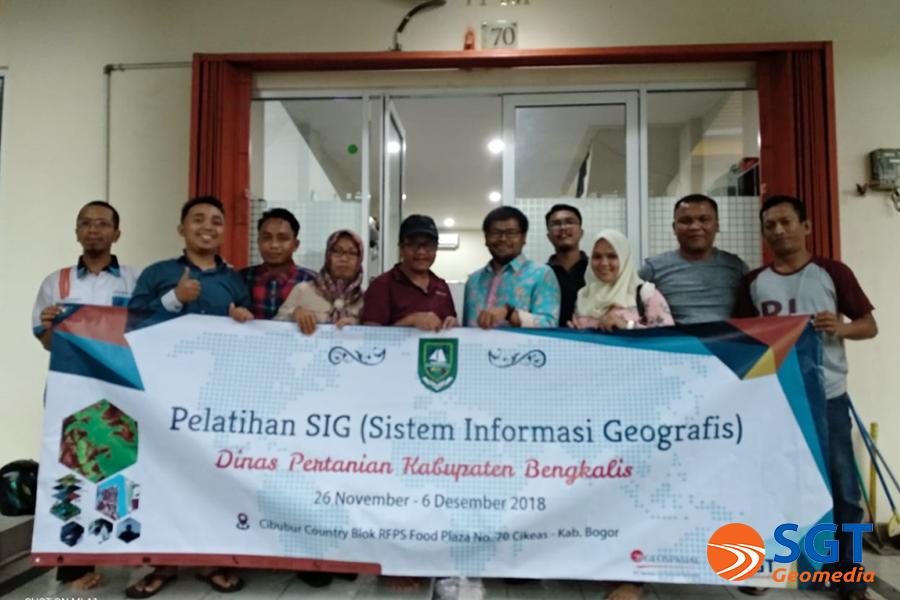 Pelatihan SIG bersama Dinas Pertanian Kab. Bengkalis